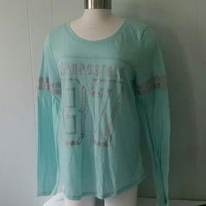 Soft Thin Jersey Tshirt Tee Glitter Nightshirt